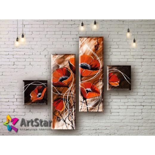 Модульные Картины, рисованные, маслом, Art. MHM17_4_064