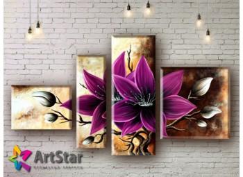 Модульные Картины, рисованные, маслом, Art. MHM17_4_070