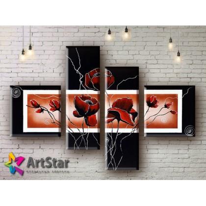Модульные Картины, рисованные, маслом, Art. MHM17_4_074