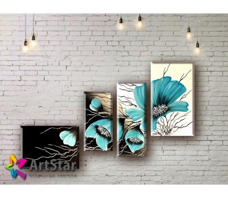 Модульные Картины, рисованные, маслом, Art. MHM17_4_078