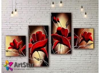 Модульные Картины, рисованные, маслом, Art. MHM17_4_084