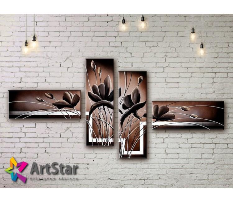 Модульные Картины, рисованные, маслом, Art. MHM17_4_088