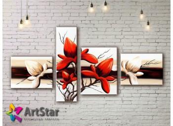Модульные Картины, рисованные, маслом, Art. MHM17_4_092