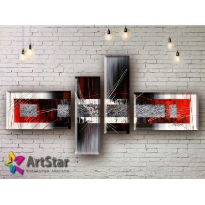 Модульные Картины, рисованные, маслом, Art. MHM17_4_098