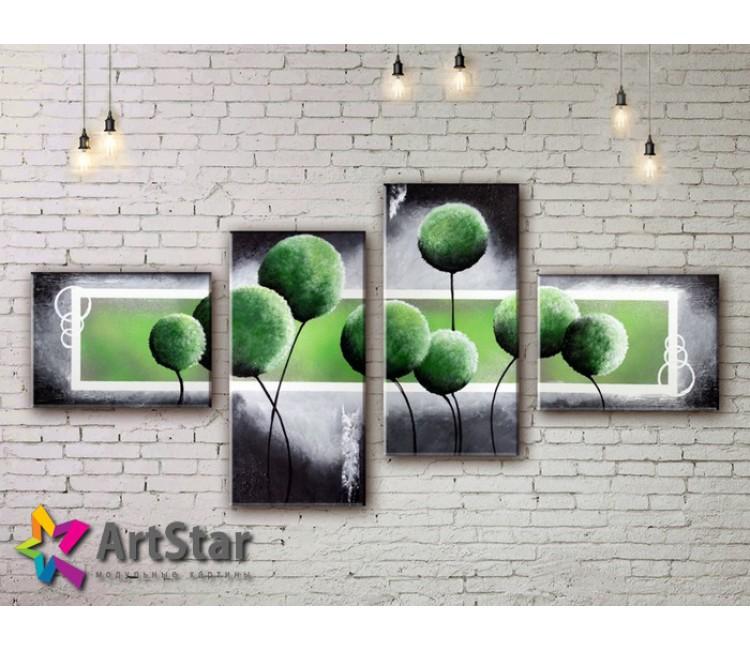 Модульные Картины, рисованные, маслом, Art. MHM17_4_100
