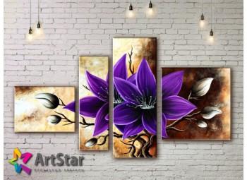 Модульные Картины, рисованные, маслом, Art. MHM17_4_122