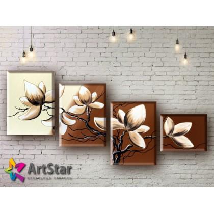 Модульные Картины, рисованные, маслом, Art. MHM17_4_130