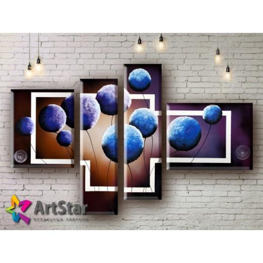 Модульные Картины, рисованные, маслом, Art. MHM17_4_140