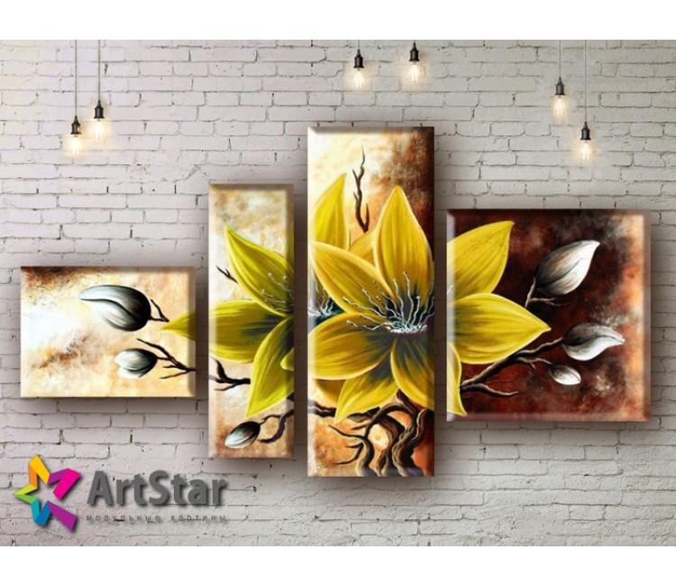 Модульные Картины, рисованные, маслом, Art. MHM17_4_142