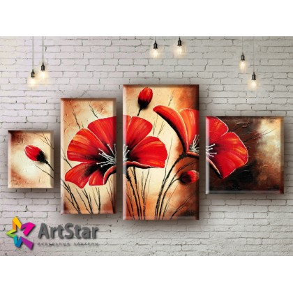 Модульные Картины, рисованные, маслом, Art. MHM17_4_152