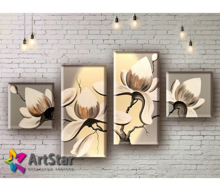 Модульные Картины, рисованные, маслом, Art. MHM17_4_154