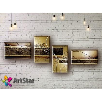 Модульные Картины, рисованные, маслом, Art. MHM17_4_160