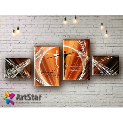 Модульные Картины, рисованные, маслом, Art. MHM17_4_164