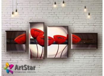 Модульные Картины, рисованные, маслом, Art. MHM17_4_168