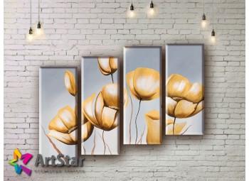 Модульные Картины, рисованные, маслом, Art. MHM17_4_182