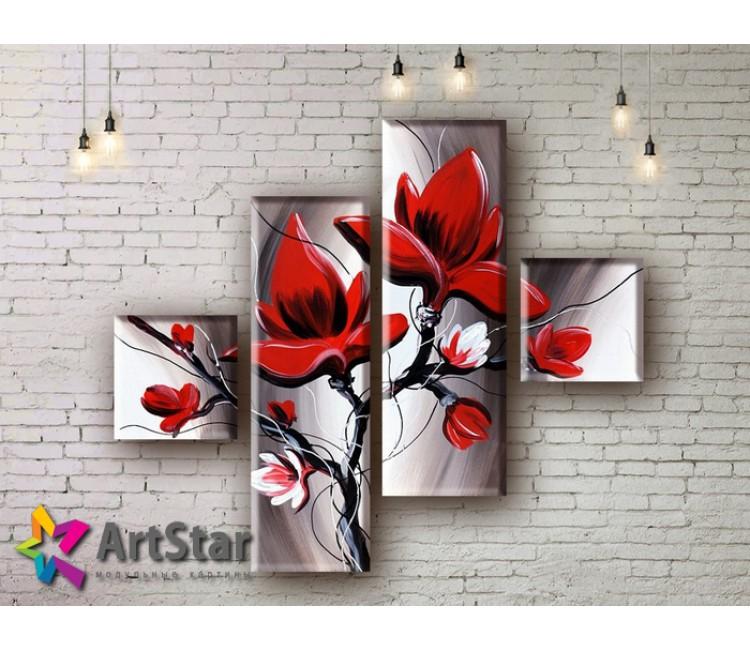 Модульные Картины, рисованные, маслом, Art. MHM17_4_200