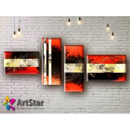 Модульные Картины, рисованные, маслом, Art. MHM17_4_210