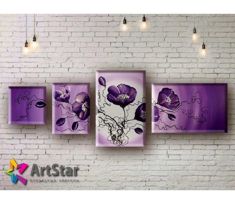 Модульные Картины, рисованные, маслом, Art. MHM17_4_226