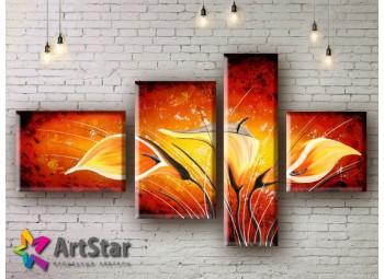 Модульные Картины, рисованные, маслом, Art. MHM17_4_232