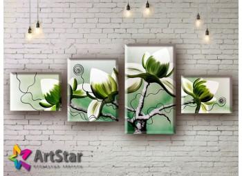 Модульные Картины, рисованные, маслом, Art. MHM17_4_234