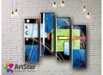 Модульные Картины, рисованные, маслом, Art. MHM17_4_236