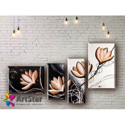 Модульные Картины, рисованные, маслом, Art. MHM17_4_240