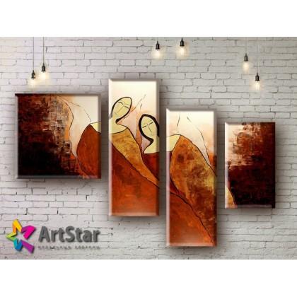 Модульные Картины, рисованные, маслом, Art. MHM17_4_242
