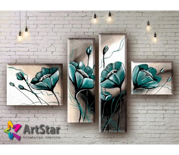 Модульные Картины, рисованные, маслом, Art. MHM17_4_252