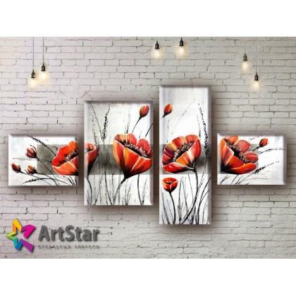 Модульные Картины, рисованные, маслом, Art. MHM17_4_258