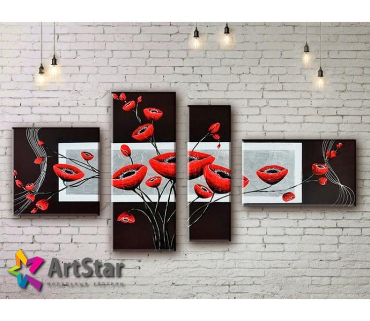 Модульные Картины, рисованные, маслом, Art. MHM17_4_289