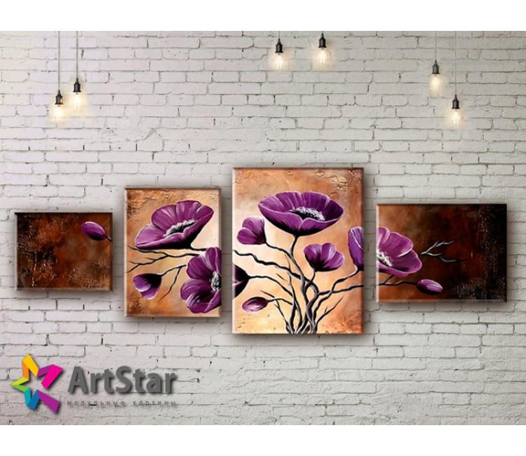 Модульные Картины, рисованные, маслом, Art. MHM17_4_292