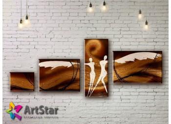 Модульные Картины, рисованные, маслом, Art. MHM17_4_295