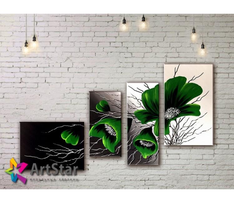 Модульные Картины, рисованные, маслом, Art. MHM17_4_307