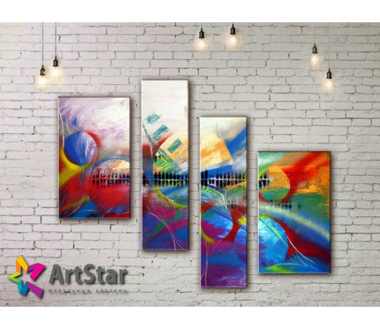 Модульные Картины, рисованные, маслом, Art. MHM17_4_314