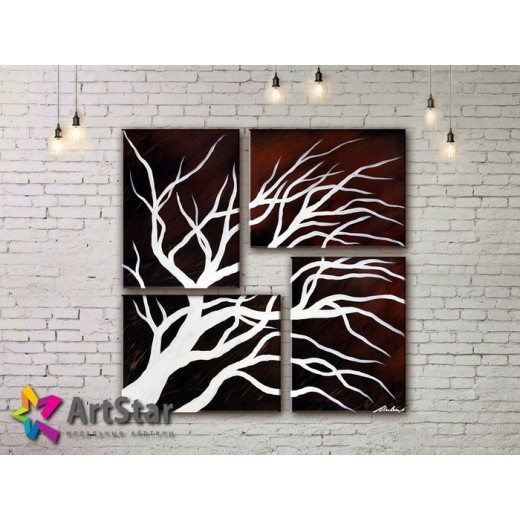 Модульные Картины, рисованные, маслом, Art. MHM17_4_320