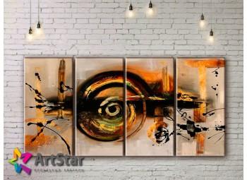 Модульные Картины, рисованные, маслом, Art. MHM17_4_324