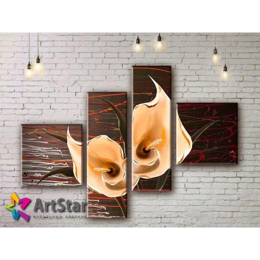 Модульные Картины, рисованные, маслом, Art. MHM17_4_328