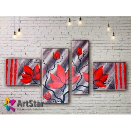 Модульные Картины, рисованные, маслом, Art. MHM17_4_330
