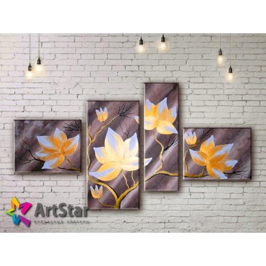 Модульные Картины, рисованные, маслом, Art. MHM17_4_334