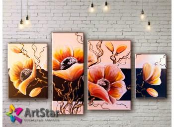 Модульные Картины, рисованные, маслом, Art. MHM17_4_340
