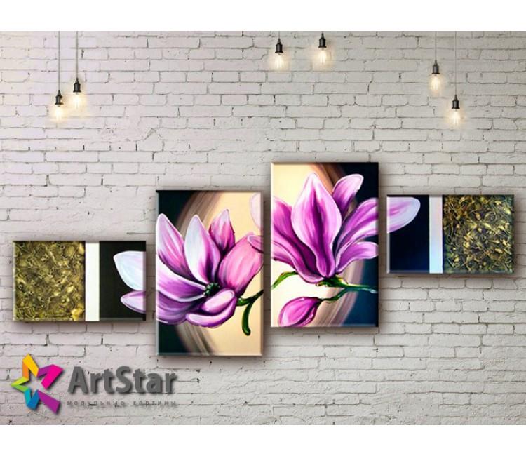 Модульные Картины, рисованные, маслом, Art. MHM17_4_344