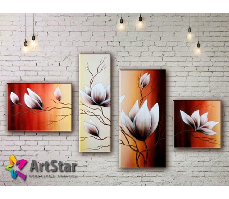 Модульные Картины, рисованные, маслом, Art. MHM17_4_354