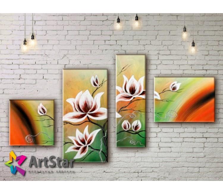 Модульные Картины, рисованные, маслом, Art. MHM17_4_356