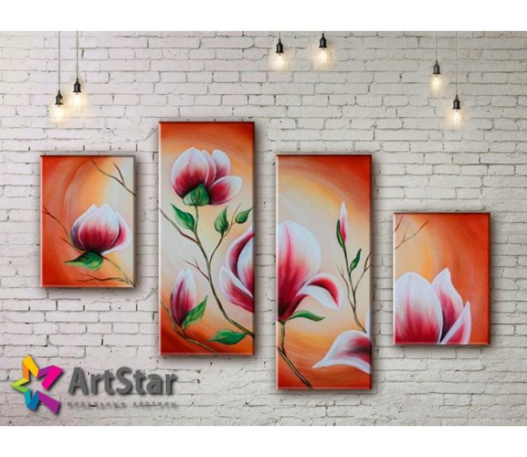 Модульные Картины, рисованные, маслом, Art. MHM17_4_358