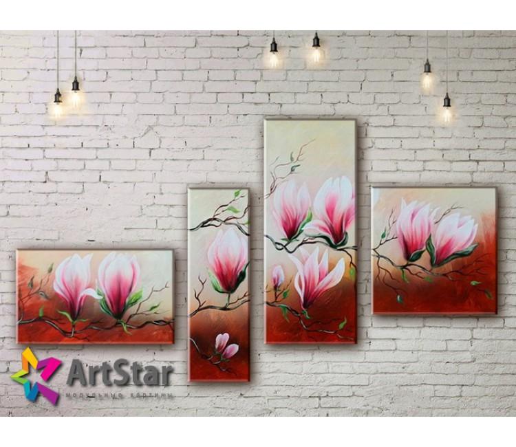 Модульные Картины, рисованные, маслом, Art. MHM17_4_360