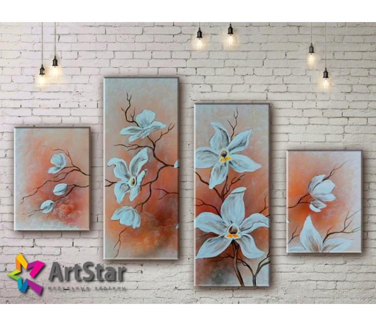 Модульные Картины, рисованные, маслом, Art. MHM17_4_366