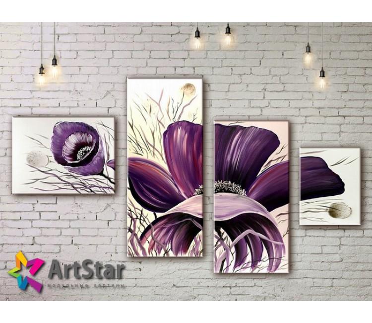Модульные Картины, рисованные, маслом, Art. MHM17_4_372