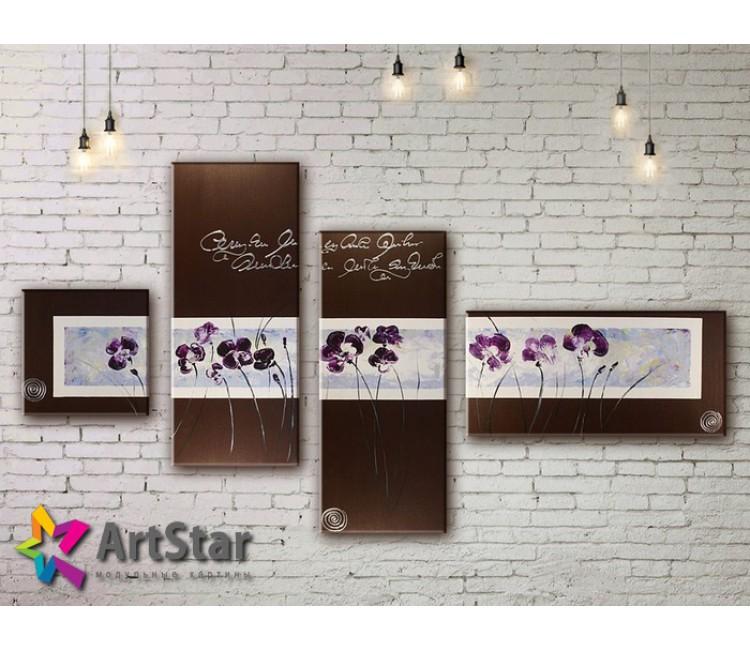 Модульные Картины, рисованные, маслом, Art. MHM17_4_380