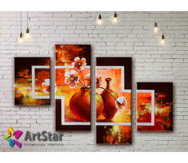 Модульные Картины, рисованные, маслом, Art. MHM17_4_382