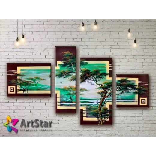 Модульные Картины, рисованные, маслом, Art. MHM17_4_384